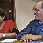 Senior Ship Visitor Mesfin works with Captain